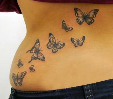 Butterfly back tattoos for girl