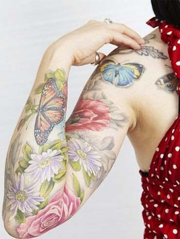 Butterfly tattoos on hands for girl