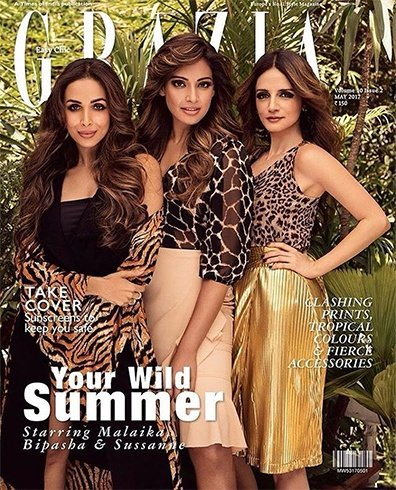 Malaika Arora, Bipasha Basu and Sussanne Khan on Grazia