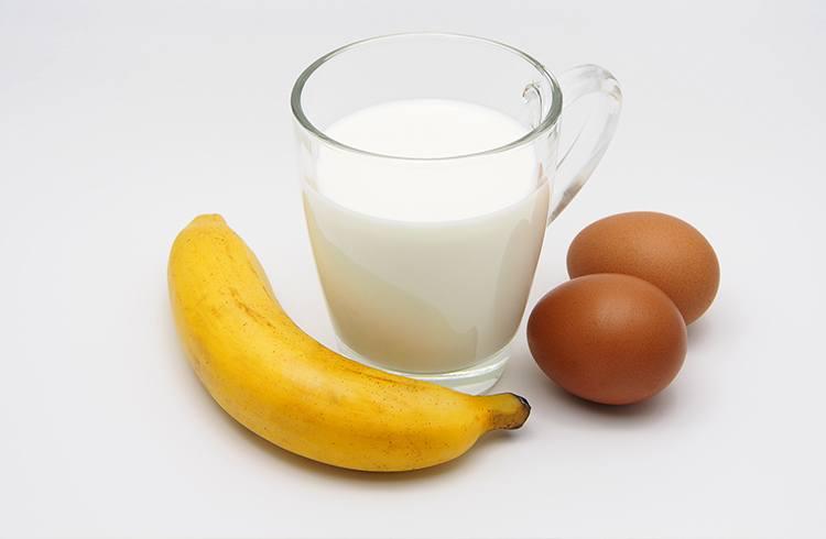 Egg, Banana and Milk Mask