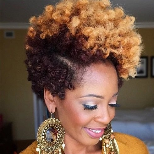 Two Toned Natural Hairstyles For Short Hair