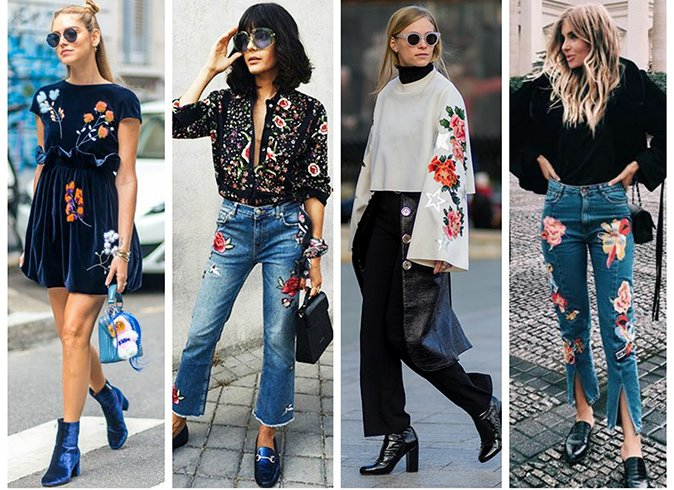 How to wear the embroidered trend