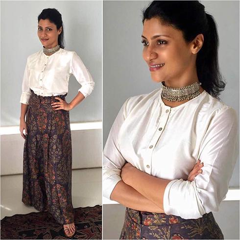Konkana Sen Sharma Printed Pants Style