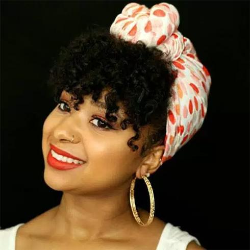Headscarf Natural Hairstyles For Short Hair