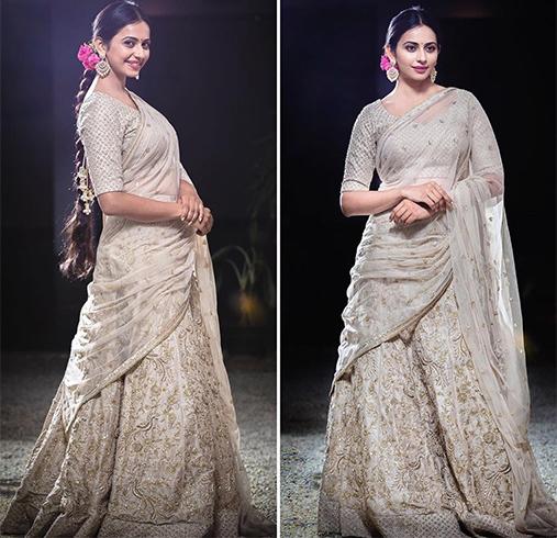Rakul Preet Singh in SVA Couture Sari