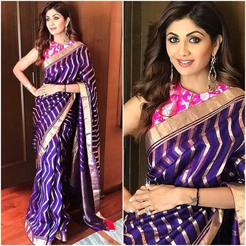 Shilpa Shetty Sari Style