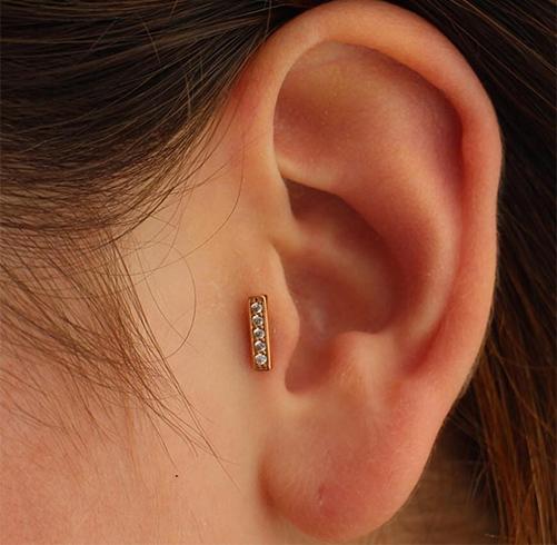 Small Tragus Piercing