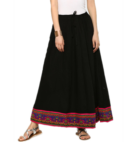 Ayaany Women Black Maxi Skirt
