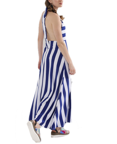 Back Tie Halter Maxi Dress