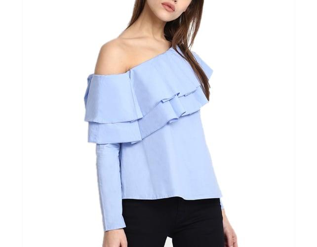 Blue Camilla One Shoulder Top