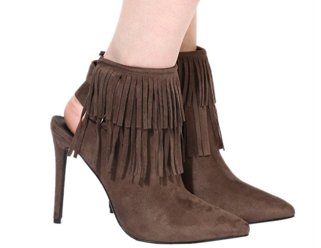 Brown Ankle Length Boots