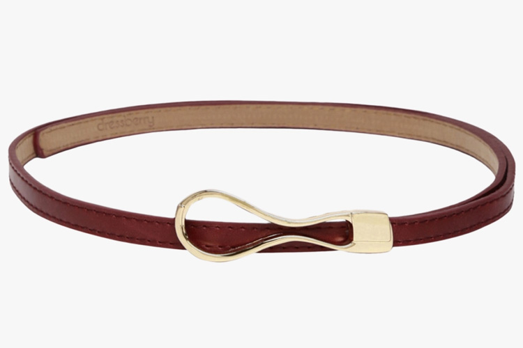 Brown Synthetic Leather Belt