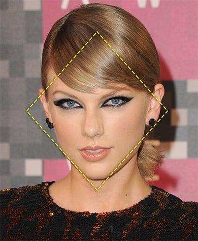 Celeb Diamond Face Shape