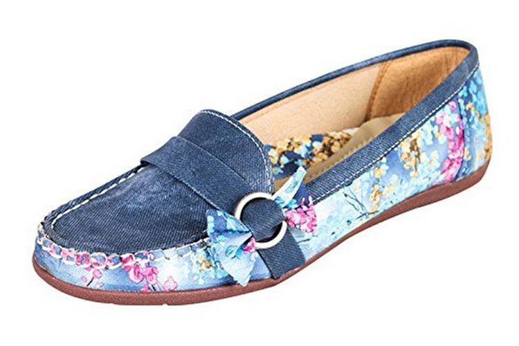Footshez Women's Blue Casual Bellies