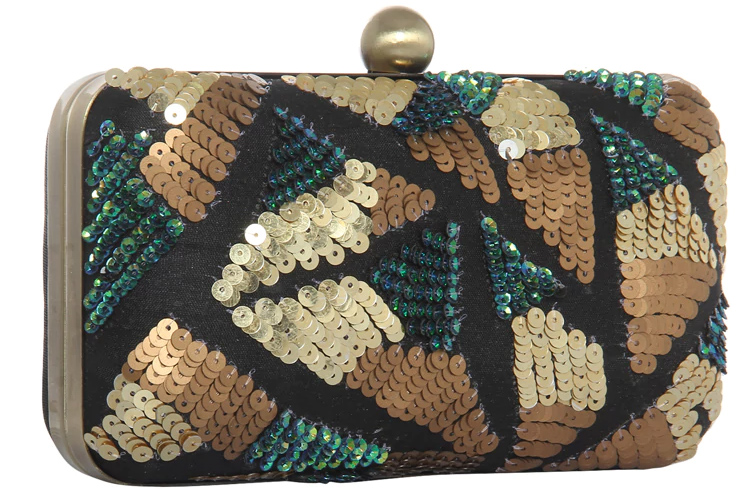 Gold Polyester Clutches