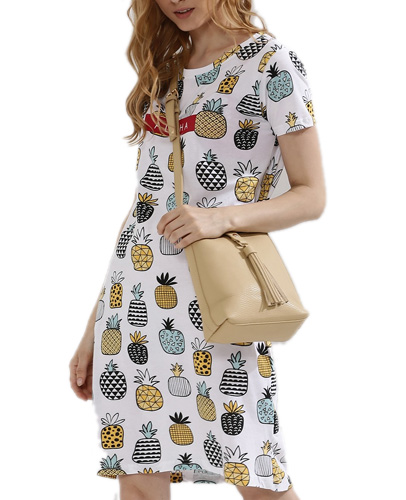 Pineapple T-Shirt Dress