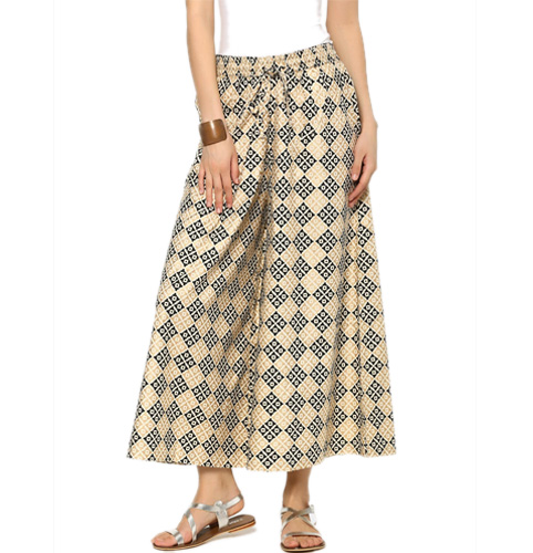 Rangmanch by Pantaloons Women Beige & Black Liva Printed Regular Fit Palazzo Pants