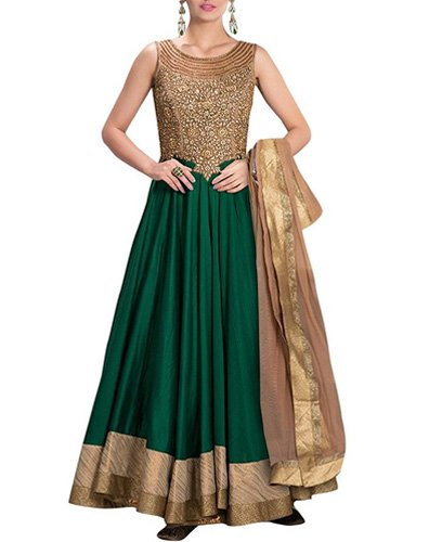 Sancom Women's Banglori Silk Anarkali suit