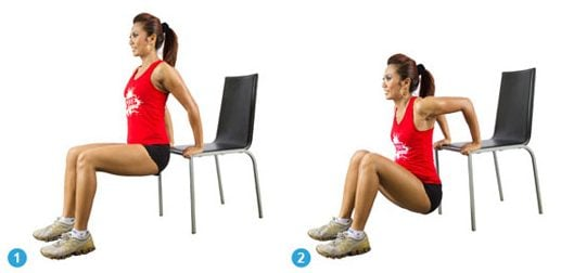 Tricep Dips on a Chair