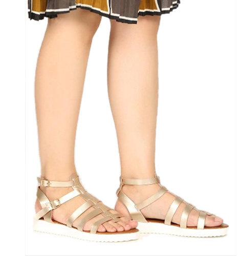 abof Women Gold-toned Flatforms
