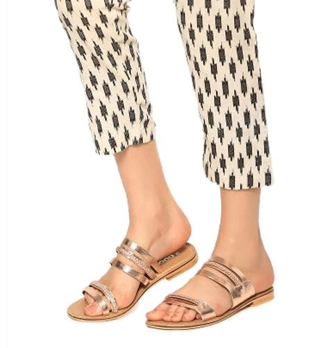abof Women Rose Gold-toned Flats
