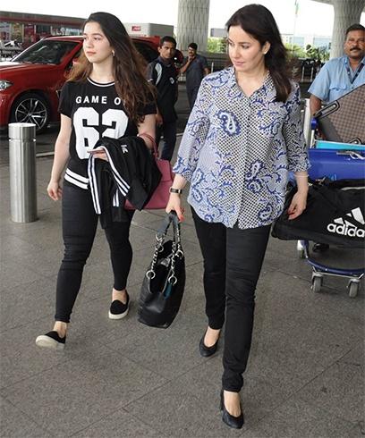 Anjali and Sara Tendulkar