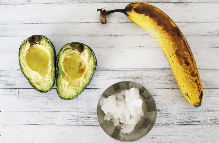 Banana Avocado and Coconut Oil Hair Mask