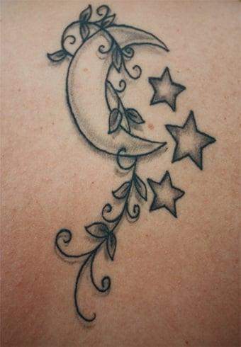 Moon And Stars Tattoo