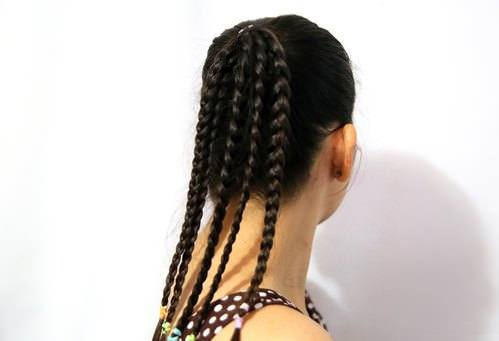 Braided Ponytail with Banana Clip