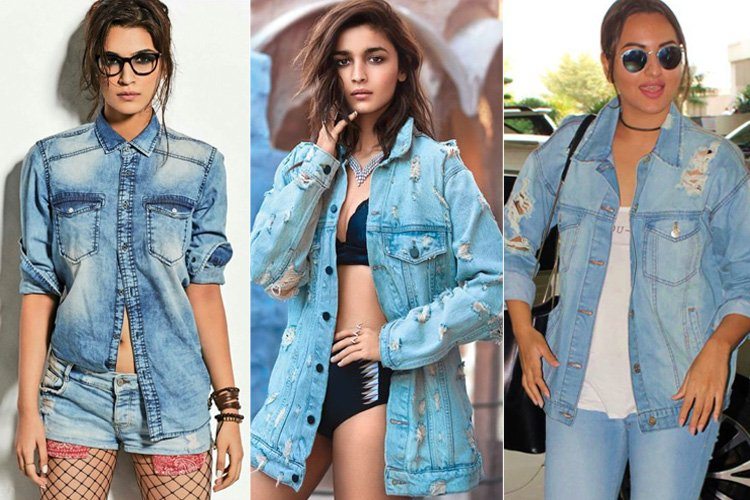 Celebrites Ripped Denims