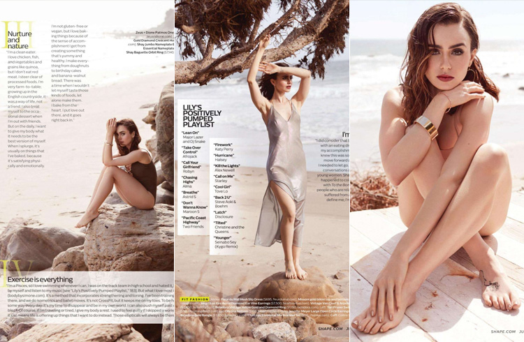 Lily Collins for Shape