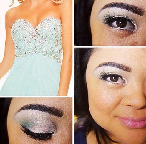 Makeup For Light Blue Dress