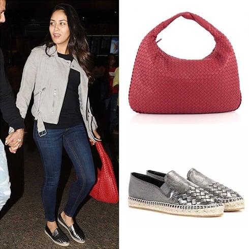 Mira Rajput Bottega Veneta Cutesy Handbag