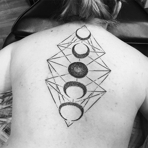 Moon Cycle Tattoo