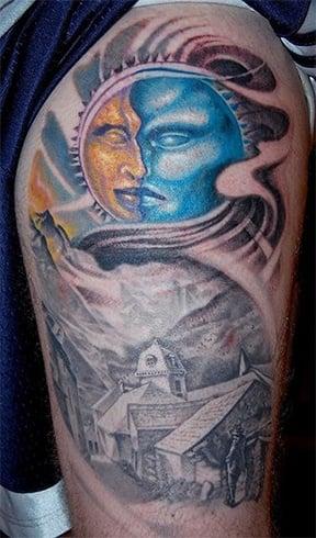 Midnight Moon Tattoo