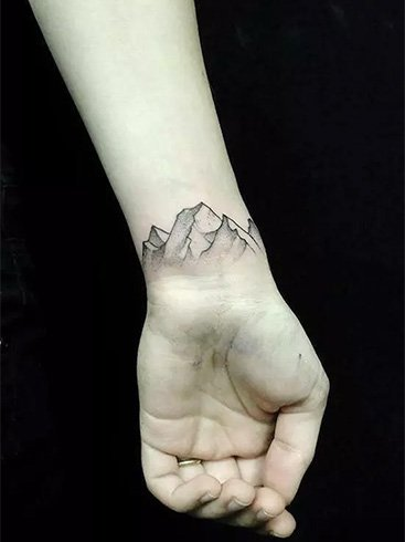 Mountain Wrist Tattoos