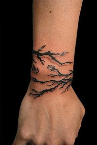 Watercolor Tree Tattoo Back to the Roots