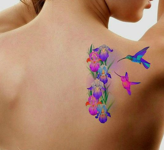 Womens Hummingbird Tattoo Designs