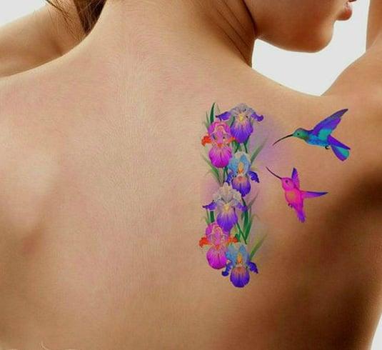 Womens Hummingbird Tattoo Designs