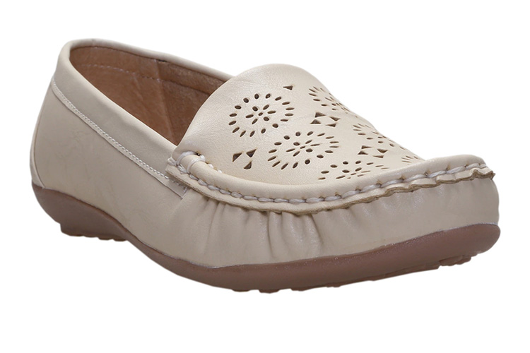 Beige Faux Leather Loafer