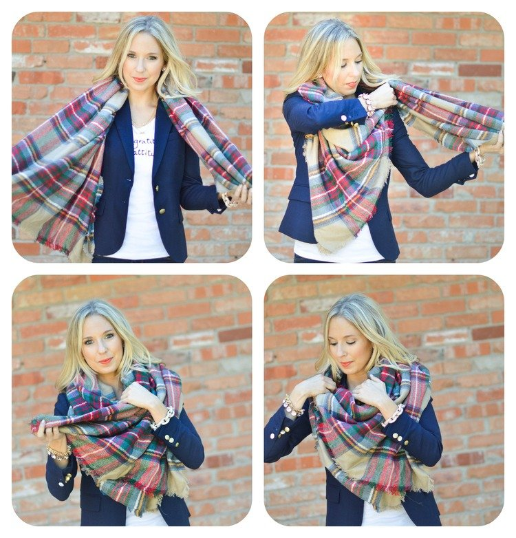 how to wear a large rectangular scarf