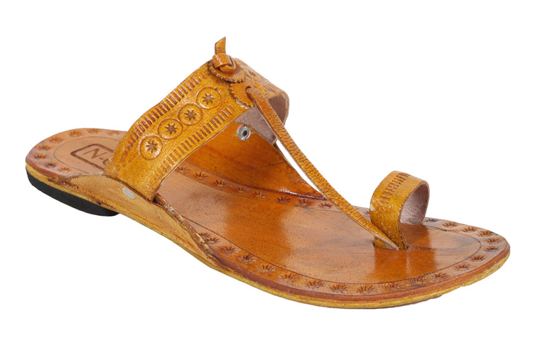 Brown One Toe Kolhapuri