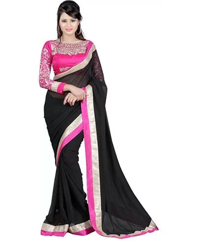 Embellished Chiffon Saree