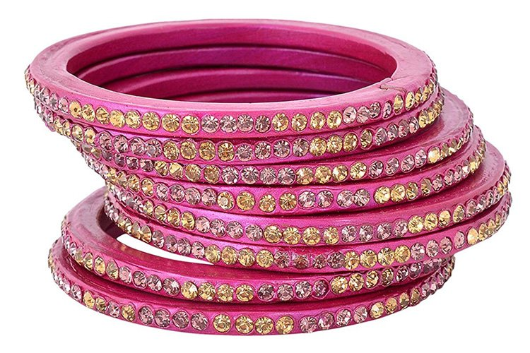 Essentials Pink Lac Bangle Set for Women