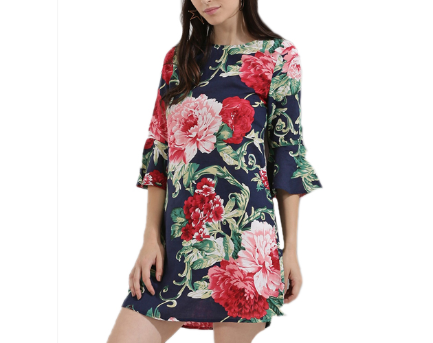 Frill Sleeve Floral Dresses
