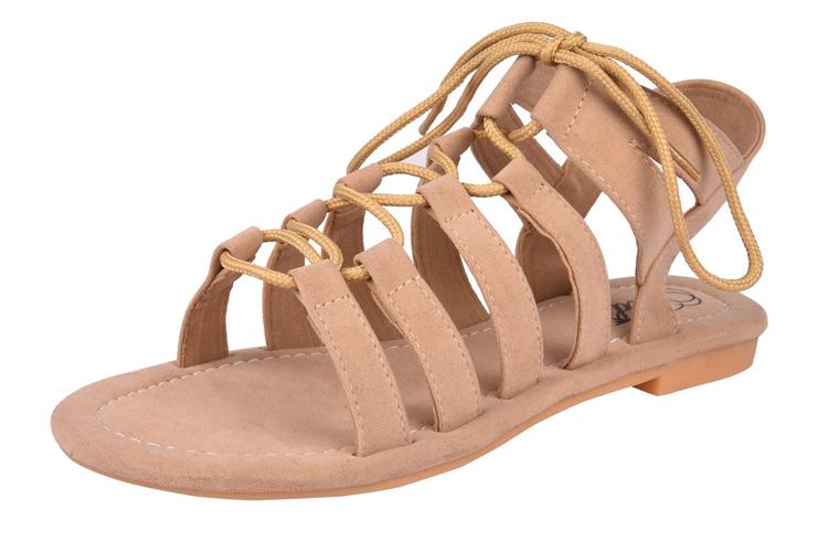 Jade Women's Suede Gladiator Fashion Sandals