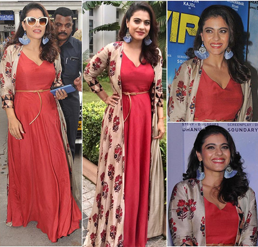 Kajol in Anushree Label
