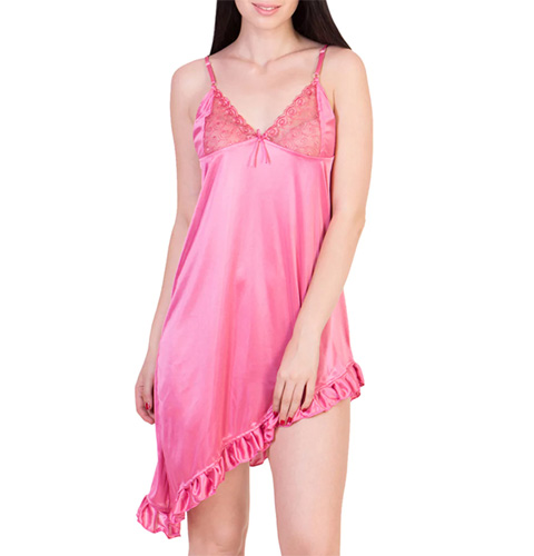 Pink Satin Nightwear