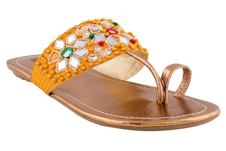 Yellow One Toe Kolhapuri