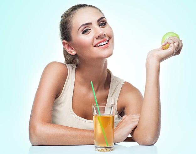 Apple Juice for Glowing Skin